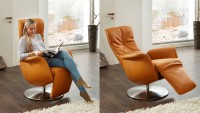 Pinto Sessel Leder Orange