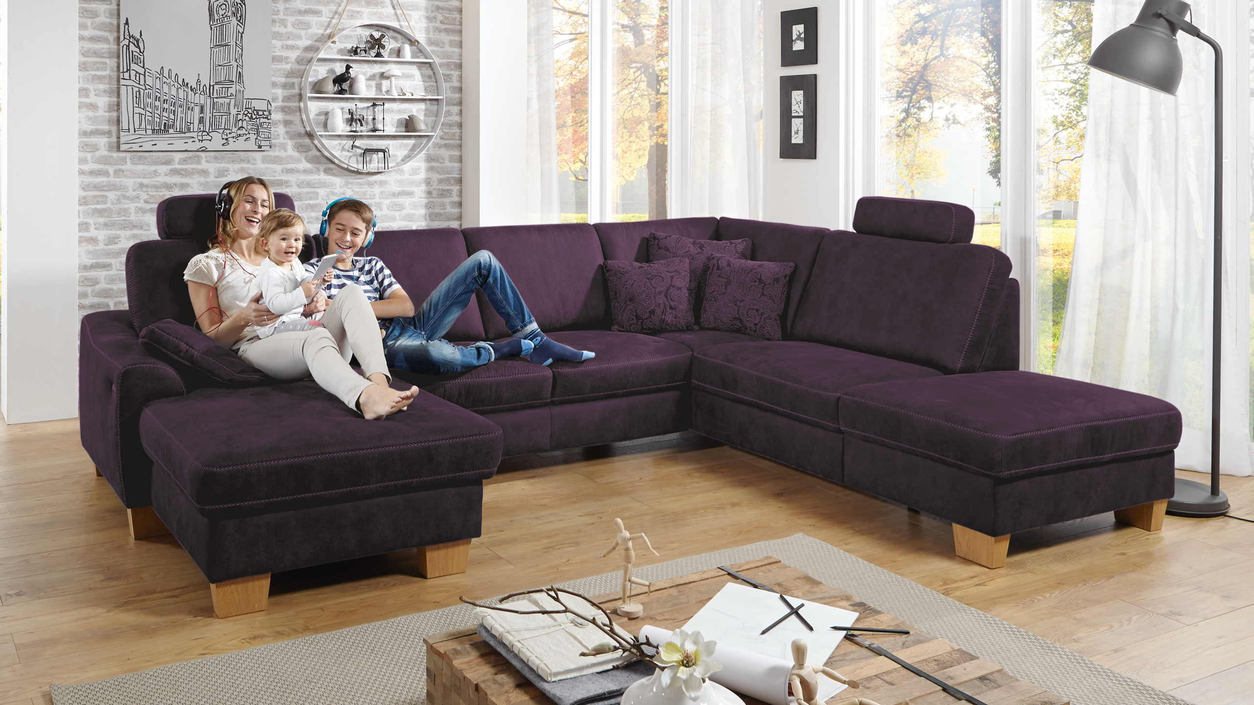 SC family/ select 1028 Wohnlandschaft Lila