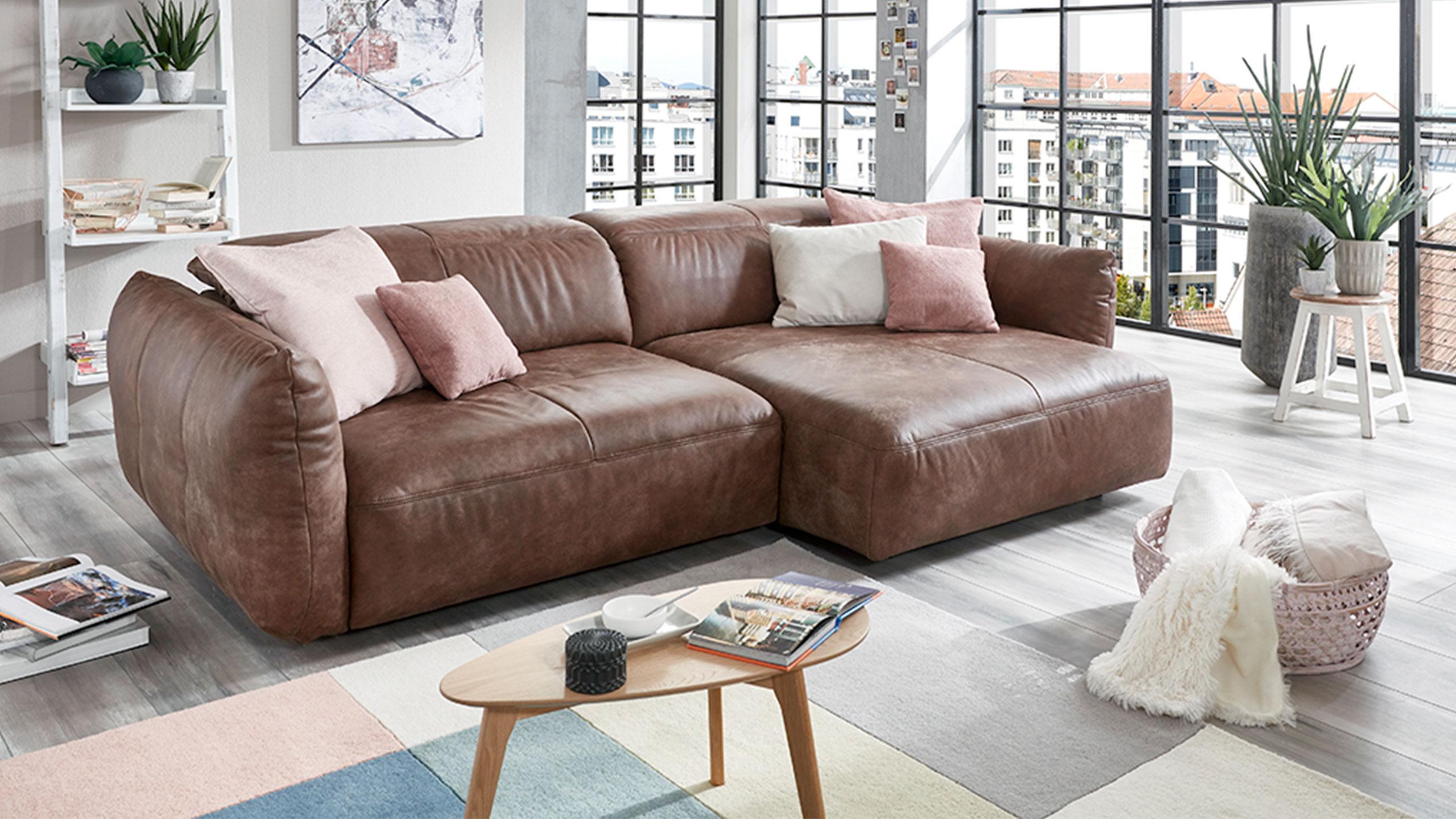 reno ecksofa leder braun ecksofas sortiment multipolster. Black Bedroom Furniture Sets. Home Design Ideas