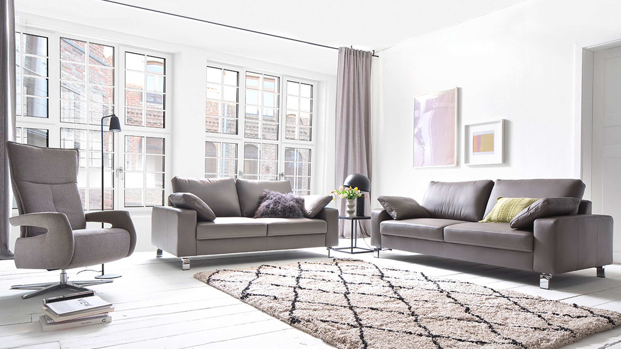 Indiana Sofa Garnitur Grau