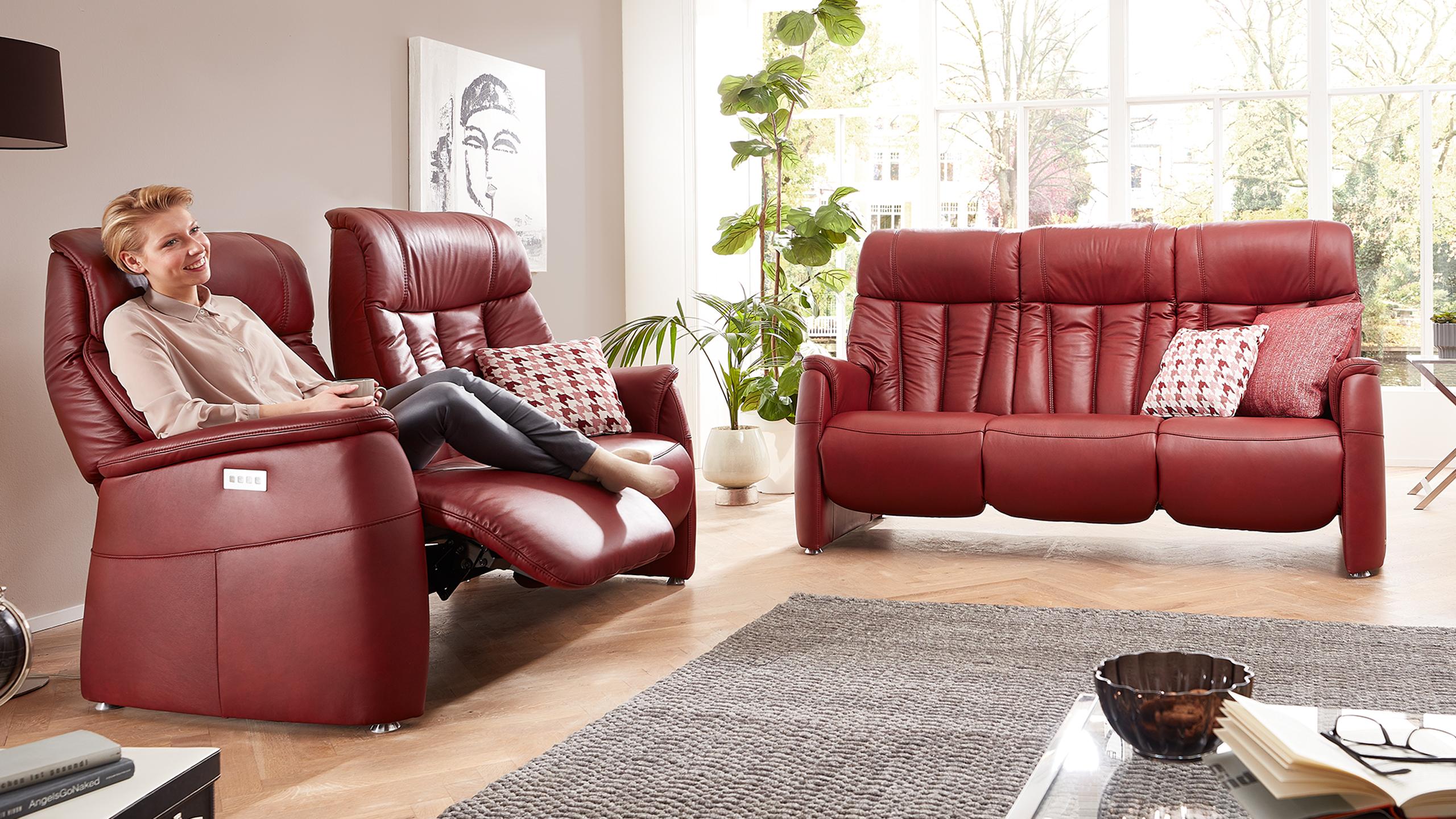 Triton Sofa Garnitur Rot