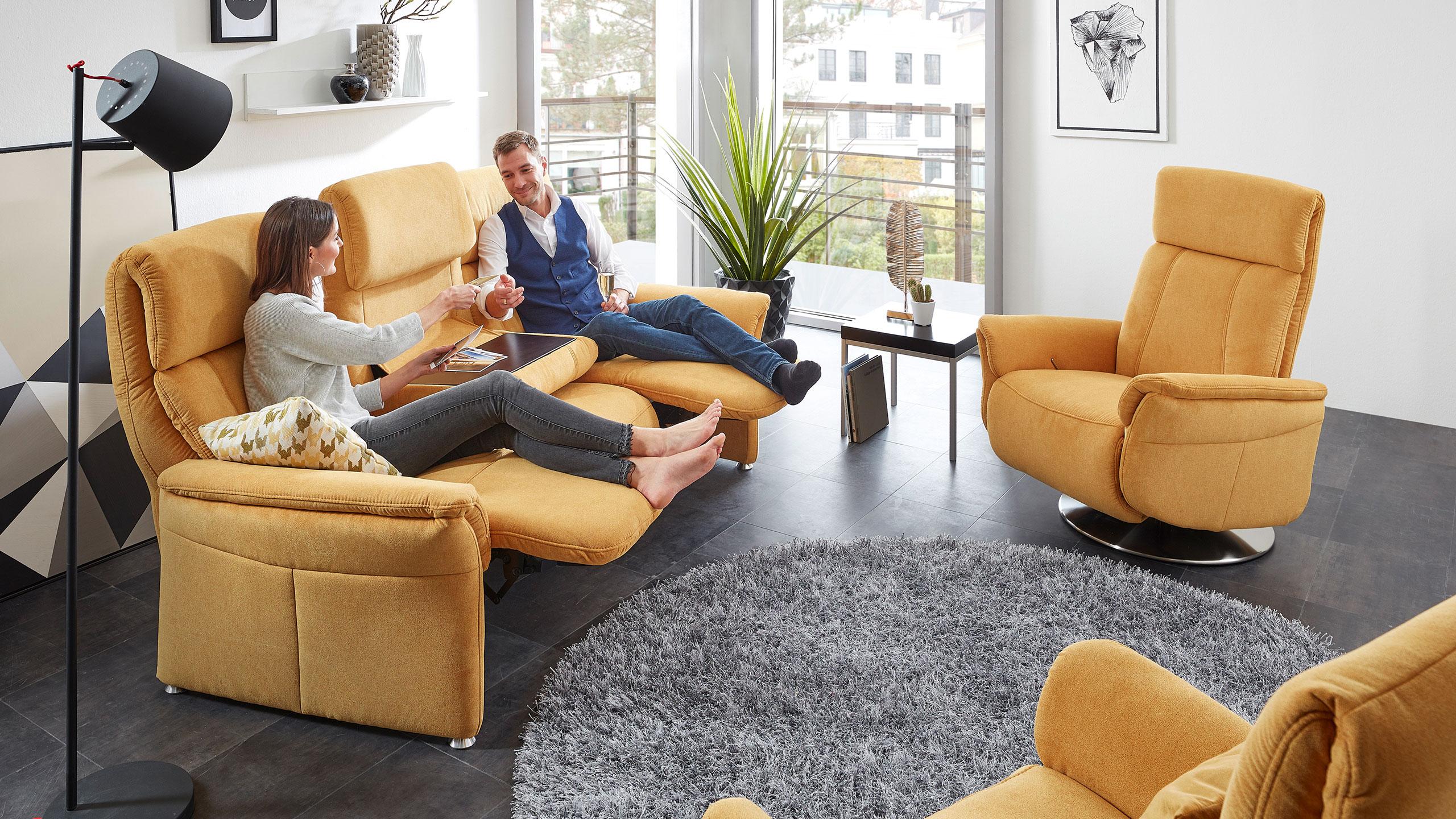 Magic Comfort Sessel 84 cm Stoff Gelb