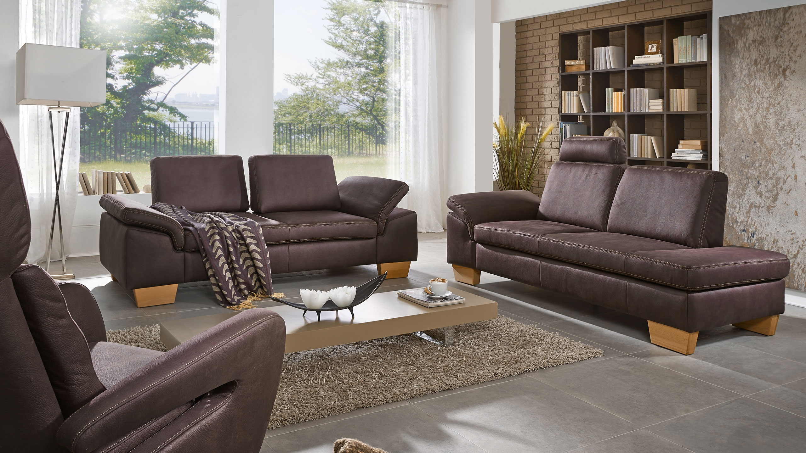 Punto Sofa Garnitur Braun Sofa Garnituren Sortiment Multipolster