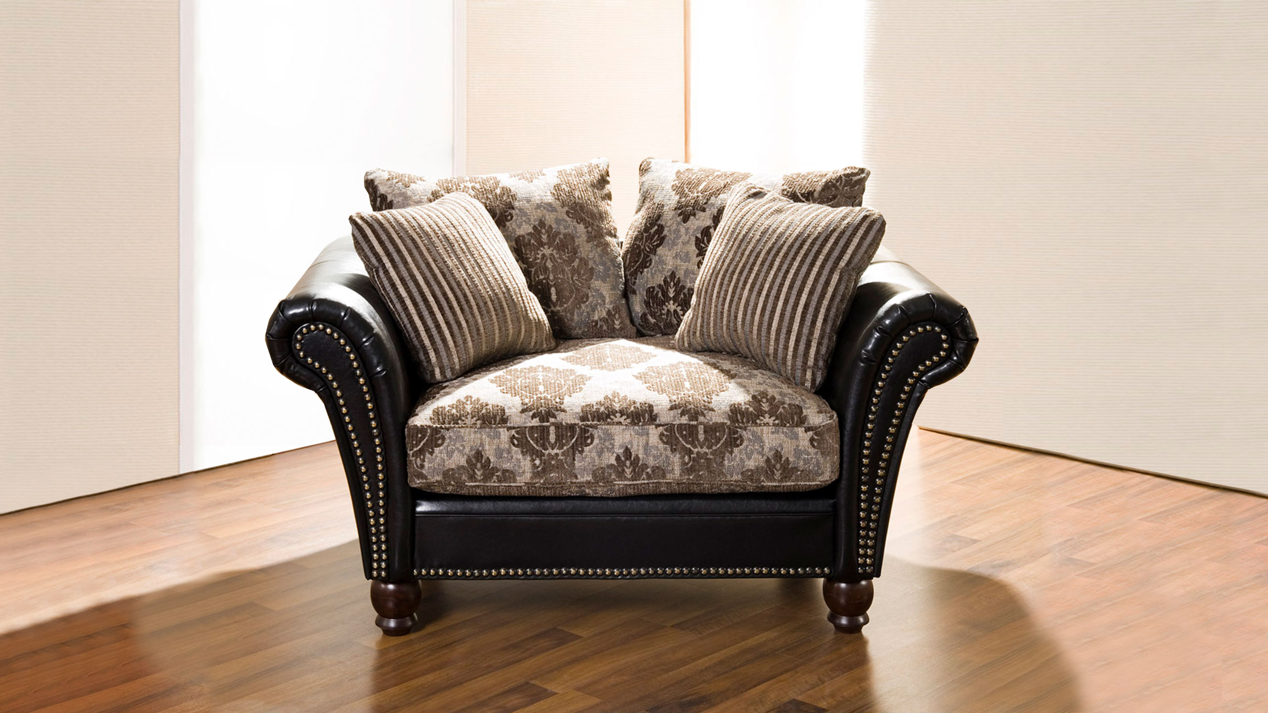 Nizza Sofa Stoff Braun