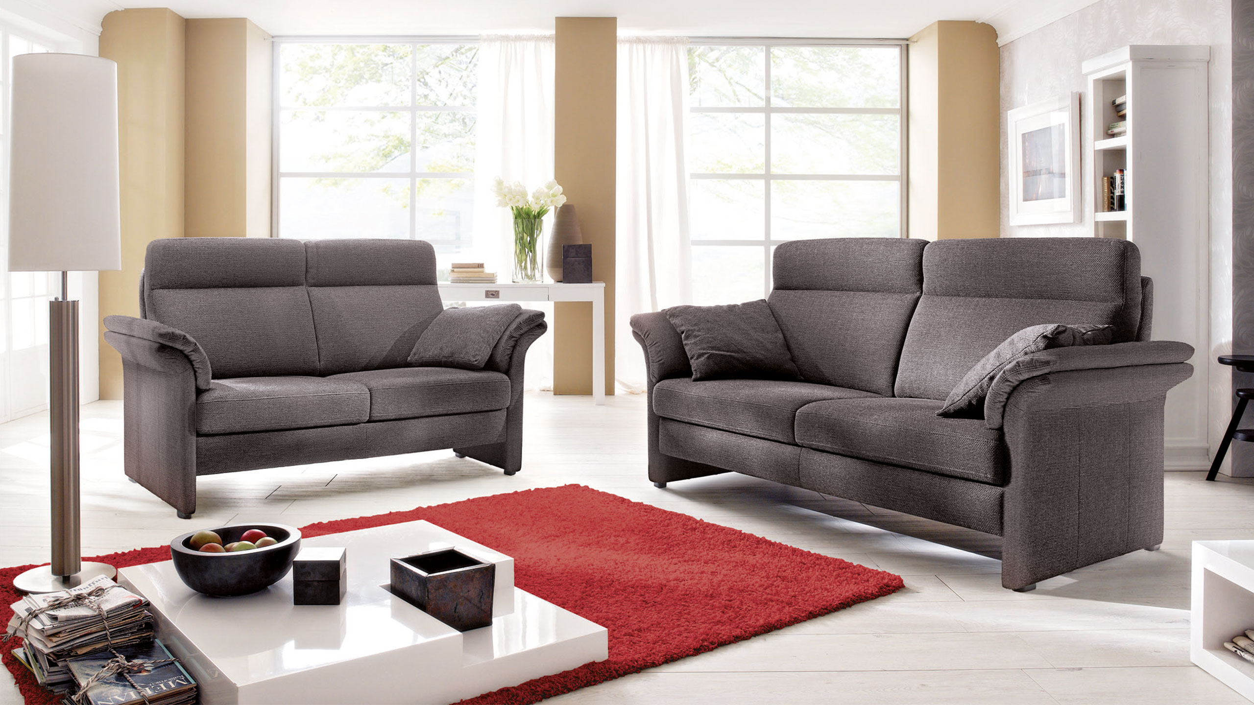 Malaga Sofa Stoff Grau