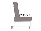 Sitztiefe ca. 64 cm
