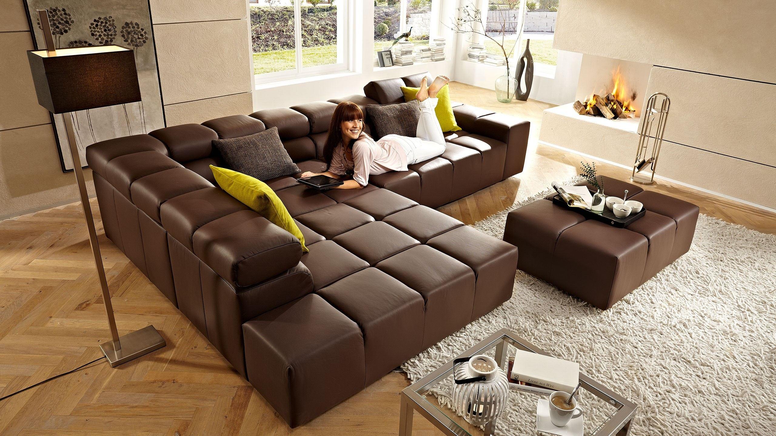 corona ecksofa leder braun ecksofas sortiment multipolster. Black Bedroom Furniture Sets. Home Design Ideas