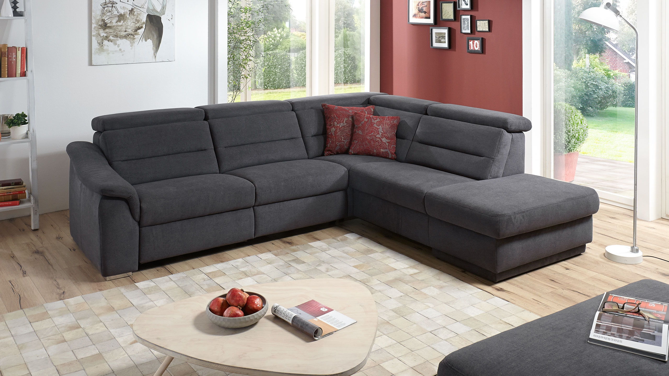 SC family/ select 1008 Ecksofa Grau