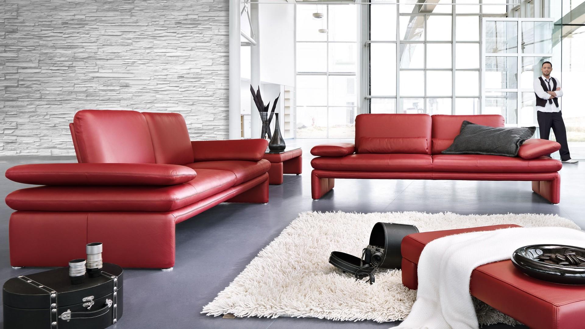 Calla Sofa Rot Leder