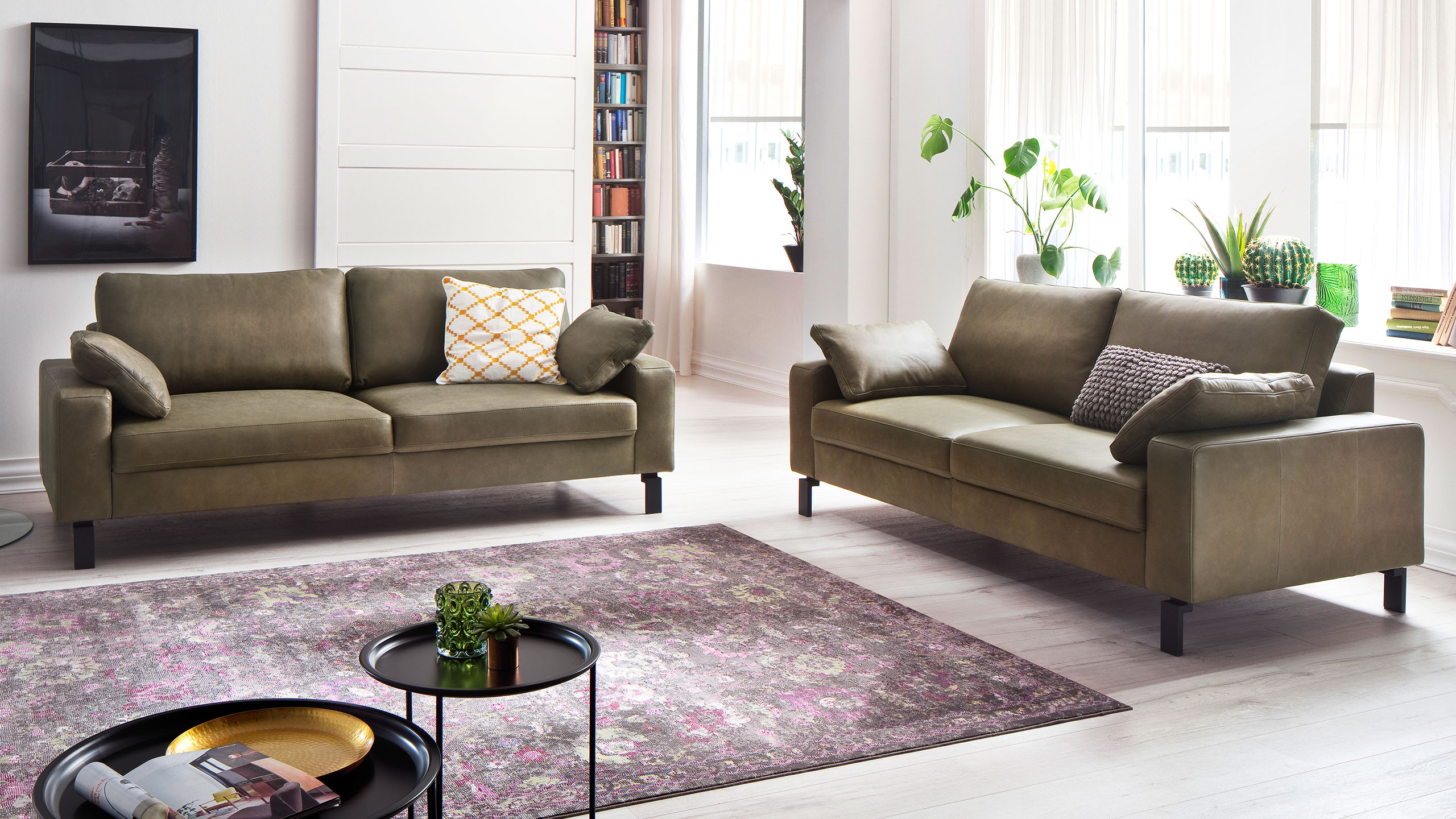 Indiana Sofa Leder Grün