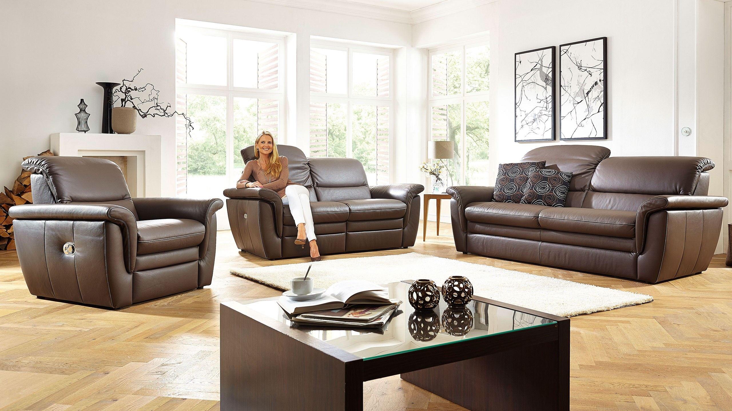 Cava Sofa Braun Leder