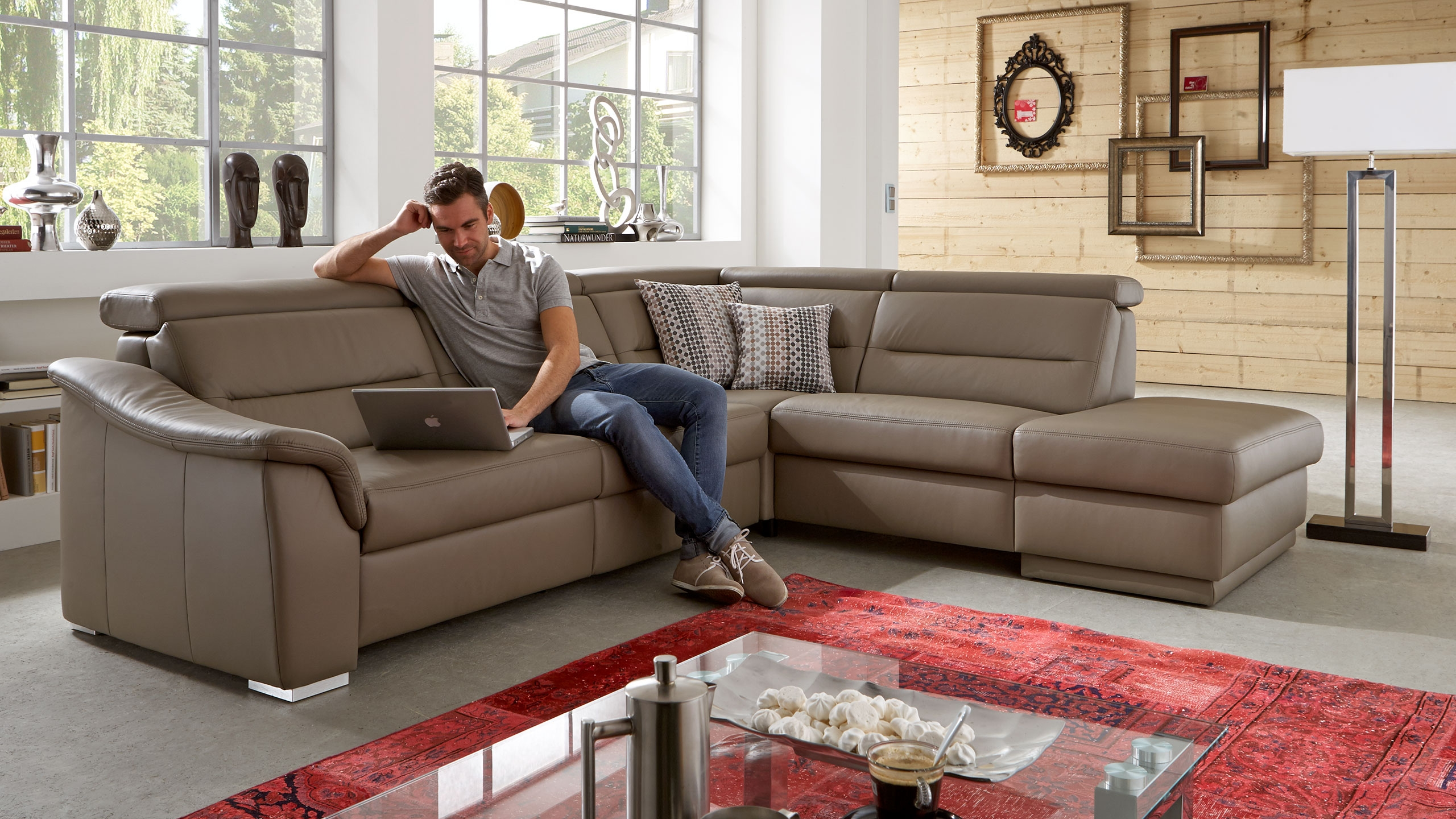 SC family/ select 1008 Ecksofa Braun